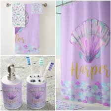 <b>Mermaid Shower</b> Curtain <b>Kids Room</b> Decor Personalized <b>Mermaid</b> ...