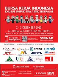 job fair jofom career expo jakarta jadwal event info pameran job fair jofom career expo jakarta