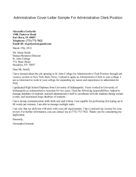cover letter for administrative clerk position cover letter cover letter for administrative clerk position