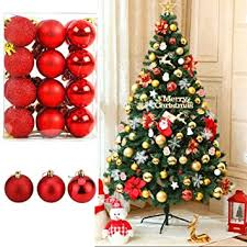 Buy Fizzytech <b>12pcs</b> Shatterproof <b>Christmas</b> Ball <b>Ornaments</b> Glitter ...