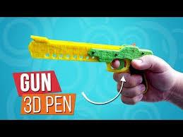 <b>3D Pen</b> Как сделать <b>пистолет</b> стреляющий резинками | Игрушки ...