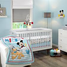 mickey mouse lets go mickey 3 piece crib set baby mickey crib set design