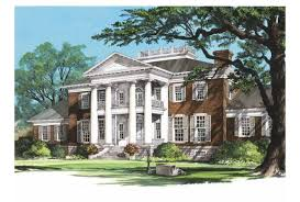 Eplans Plantation House Plan   Sycamores   Square Feet and    Front