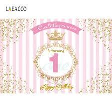 <b>Laeacco</b> Princess Prince <b>Happy Birthday</b> Red Stair Carpet Baby ...