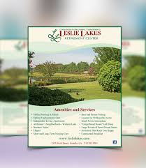 brochure flyers poster leslie lakes retirement center flyer