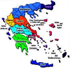 Resultado de imagen para mapa polìtico de Grecia