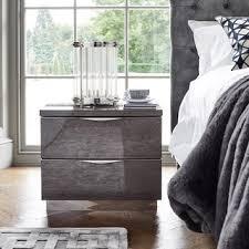 Velvet Grandeur | Lutyen <b>High</b> Gloss <b>Bedside Table</b> - Модернизм ...