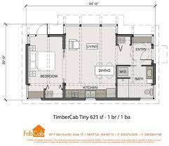 John Briggs   Tiny House Nation    FabCab Br Floor Plan sq ft FabCab Tiny