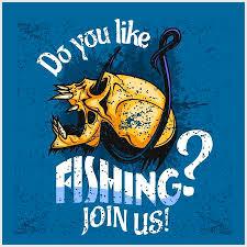 <b>Fisherman</b> - <b>Skull And</b> Hook. Vector Illustration With Sample Text ...