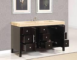 bathroom vanity 60 inch:  bathroom vanity silkroad  inch travertine top vanity