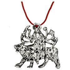 Buy Faynci <b>Goddess</b> Durga MATA <b>Red Silver</b> Crystal Diamond ...