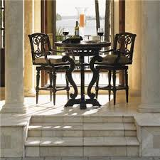 three piece dining set: tommy bahama outdoor living kingstown sedona  piece dining pub set with bar stools