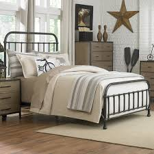 wrought iron frame bedroom