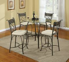 Glass Dining Room Tables Round Dining Table Chairs Elegant Classic Design Come Gray Iron Classic