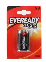 <b>Батарейка КРОНА Energizer Eveready</b> Super 6F22 (1 штука)