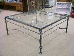 232 black wrought iron glass top coffee table lot 232 glass and iron coffee table black wrought iron furniture