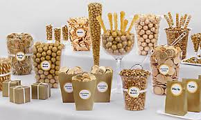 Image result for selecting variety of candies for candy buffet