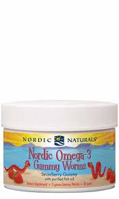 <b>Nordic Omega-3 Gummy Worms</b> (expiry 6-9 months) - NaturalMeds