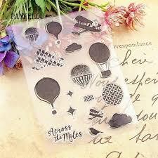 <b>Clear Silicone</b> Stamp Seal Hot Air <b>balloon Transparent</b> DIY ...
