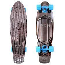 <b>Скейт Y-SCOO Big Fishskateboard</b> Metallic 27 Black Bronzat-Blue ...
