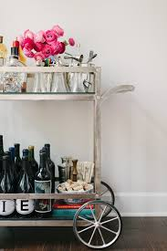 room modern camille glass:  tips for styling a bar cart by waiting on martha camille styles