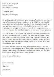 dismissal letter sample dismissal letter sample