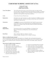 Job Description Of A Cna For Resume Resume For Your Job Application