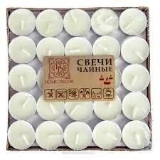 <b>Свечи чайные HOME DECOR</b>, набор 50шт купить в интернет ...