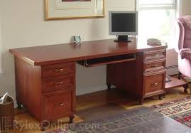 executive home office solid cherry wood desk cherry wood home office