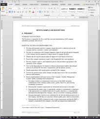 job descriptions template iso template qp1070 5 sample job descriptions