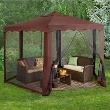 screen gazebo almond patio