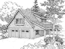 Carriage House Plans   Craftsman Style Carriage House Plan      Garage Apartment Plan  G