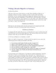 summary resume examples  sample resume summary examples  good    summary objective resume examples
