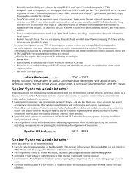 sample resume executive system administrator resume page kronos systems administrator resume