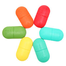 <b>Portable</b> 6 Part Tablet Pill Box Medicine Organizer Container Holder ...