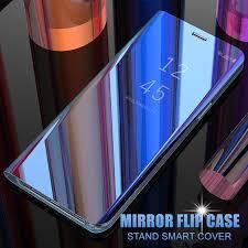 For Samsung Galaxy A50 SM A505F Luxury <b>Smart</b> Mirror <b>Flip</b> Cover ...