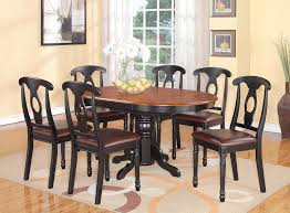 black kitchen dining sets: pc kenley oval kitchen dining set table  leather seat chairs black cherry ebay