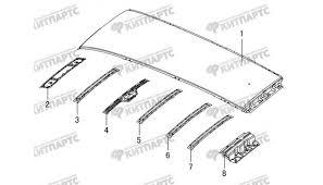 <b>Панель крыши</b> (<b>без</b> люка) Great Wall <b>Hover H3</b> в Москве — купить ...