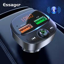 <b>Essager</b> USB Car Charger For <b>Mobile Phone</b> Bluetooth 5.0 Fm ...