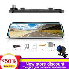 <b>TAVIN</b> Car DVR 10 inch Touch Screen Rear View Mirror <b>Dash cam</b> ...