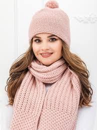 Комплект женский <b>шапка</b> и <b>шарф NORTH</b> CAPS, цвет:367бледно ...