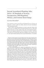 Second Amendment Plumbing After Heller: Of Standards of Scrutiny ...