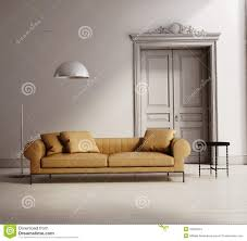 Modern Classic Living Room Design Contemporary Classic Living Room Beige Leather Sofa Stock Images