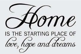 Home Quotes & Sayings| Wall Decals & Stickers, Home Love Hope Opt. 2