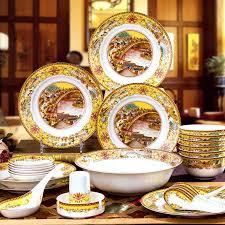 60pcs <b>Top Quality</b> Glazed Bone China <b>Porcelain</b> Tableware ...