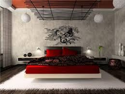 trendy bedroom decorating ideas home design: japanese modern bedroom interior design ideas with abstract vinyl wall stickers decals wonderful decoration in small
