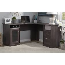bush cabot l shaped desk with optional hutch desks at hayneedle bush desk hutch office
