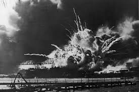 the attack on pearl harbor  uss shaw exploding pearl harbor