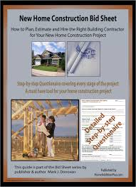 new home construction bid sheet home improvement contractor the 30 page new home construction bid sheet includes
