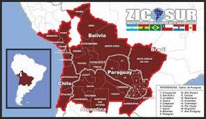 Resultado de imagem para imagem mapa ZICOSUR 2016
